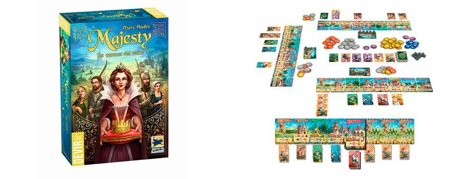 Apasionante juego de mesa Majesty, la Corona del Reino