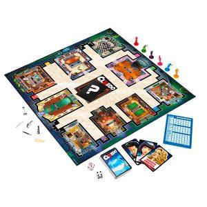 Contenido de la caja del juego de mesa Cluedo del año 2012