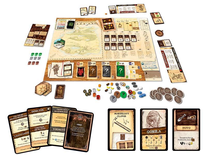 Apasionante juego de mesa cooperativo Robinson Crusoe