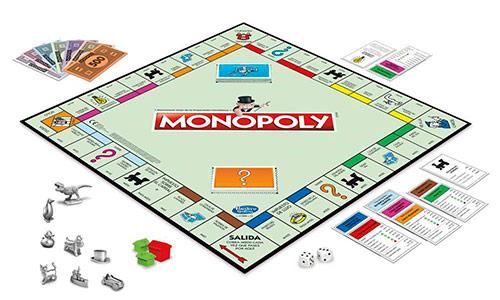 Contenido de la caja juego de mesa Monopoly