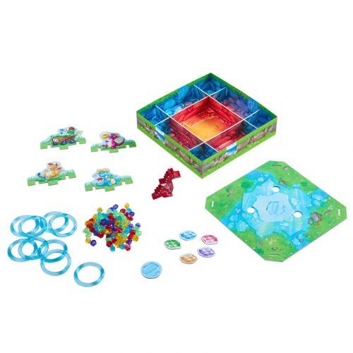 Contenido de la caja del juego de mesa Tesoro Brillante