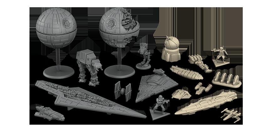 Miniaturas del juego de mesa Star Wars Rebellion