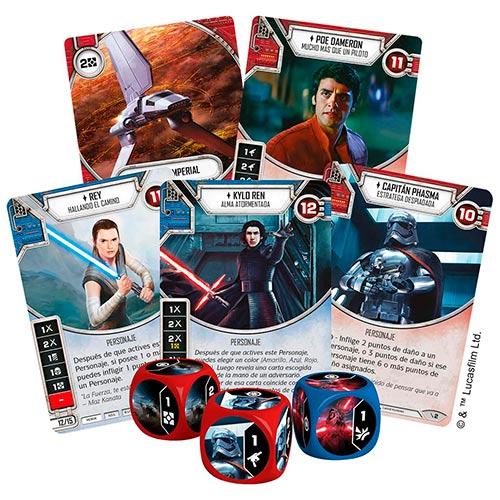 Personajes, héroes y villanos de Star Wars Destiny