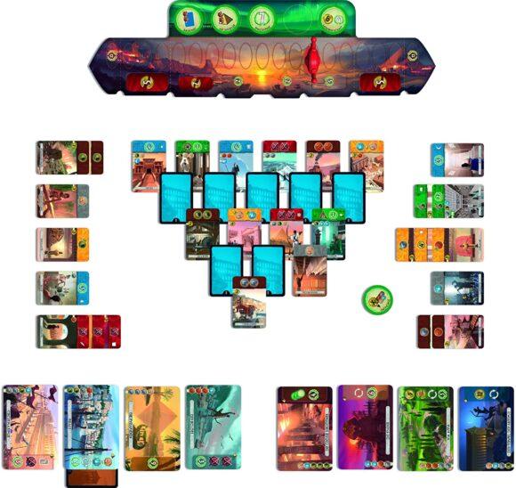 7 Wonder Duel juego de mesa para dos personas