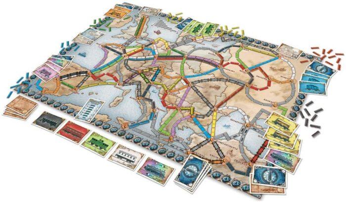 Aventureros al tren Europa - Tablero de juego